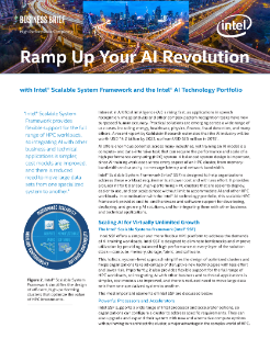 Ramp Up Your AI Revolution with Intel® Scalable System Framework (Intel® SSF)