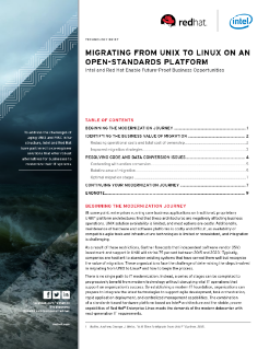 Migrating from UNIX to Red Hat* Linux