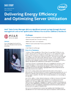 Cloud Data Center  Bank of China  Delivering Energy Efficiency  and Optimizing Server Utilization  Case Study