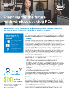 Wireless PCs Ease Fab 28 into the Future