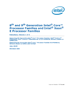 8th and 9th Generation Intel® Core™ Processor Families Datasheet, Volume 1 of 2