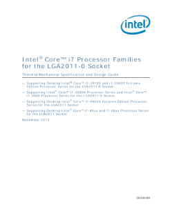 Intel® Core™ i7 Processor Family LGA2011-0 Socket Thermal Guide