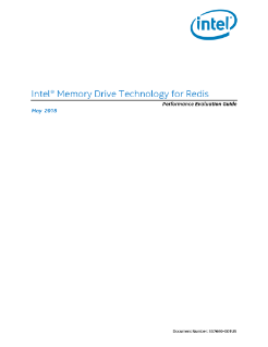 Intel® Memory Drive Technology Redis Performance Evaluation Guide