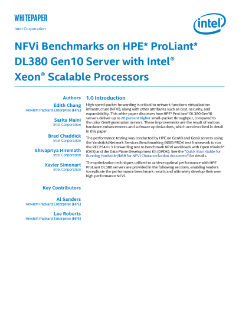 NFVi Benchmarks on HPE Servers