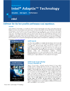 Intel® Adaptix™ Technology Product Brief