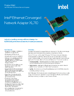 Intel® Ethernet Converged Network Adapter XL710 10/40 GbE (Intel® Ethernet CNA XL710 10/40 GbE)