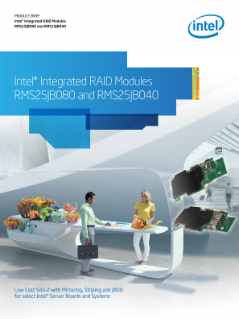 Intel® Integrated RAID Modules RMS25JB080 and RMS25JB040: Brief