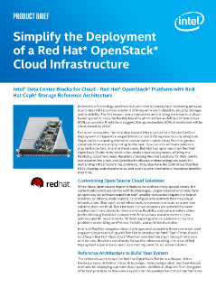 Intel® Data Center Blocks for Cloud (Intel® DCB for Cloud) - Red Hat Product Brief