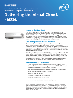Intel® Visual Compute Accelerator 2 (Intel® VCA 2) Product Brief