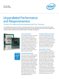 Unparalleled performance and responsiveness