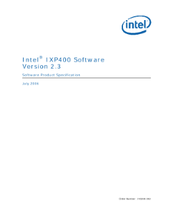 ® Intel IXP400 Software Version 2.3