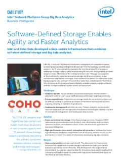 Coho Data Combines Software-Defined Storage and Big Data Analytics