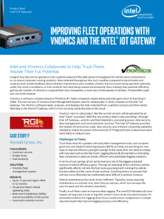 Improving Fleet Operations with Vnomics and the Intel® IoT Gateway: Solution Brief