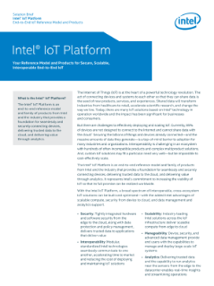 Intel® IoT Platform Reference Model and Products Solution Brief