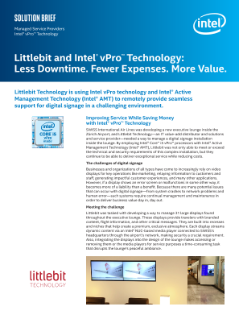 Littlebit and Intel® vPro™ Technology: Less Downtime. Fewer Expenses. More Value.