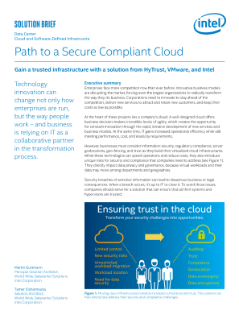 Build a Path to a Secure Compliant Cloud