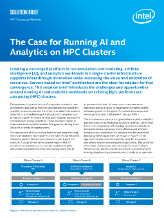 Running AI and Analytics on HPC Clusters