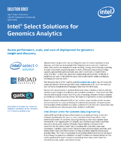 Intel Select Solutions for Genomics Analytics