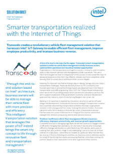 Transcode Does Smart Transportation with Intel® IoT Gateway