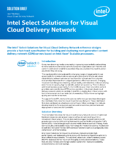 Intel Select Solutions for Visual Cloud Delivery Network
