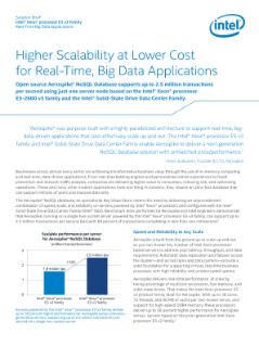 Higher Scalability at Lower Cost for Big Data Applications