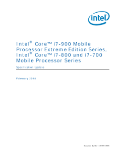 Intel® Core™ i7-900/i7-800/i7-700 Mobile Processor Series: Update