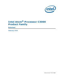 Intel Atom® Processor C3000 Product Family Datasheet