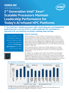 Performance for High Performance Computing (HPC) Platforms<sup>1</sup> <sup>2</sup> <sup>3</sup>