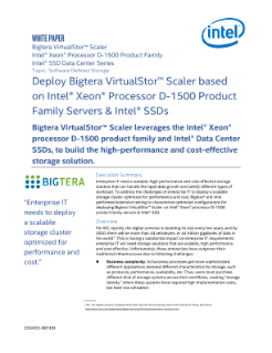 Bigtera VirtualStor* Scaler on Intel® Xeon® Processor Servers