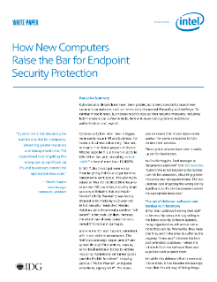 How New Computers Raise the Bar for Endpoint Security Protection